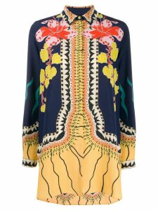 Etro long sleeve floral pattern blouse - Blue