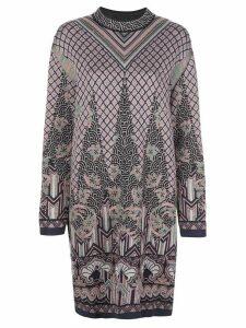 M Missoni knitted oversized jumper dress - PINK