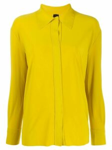 Norma Kamali long sleeve loose fit blouse - Yellow