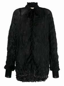 Maison Flaneur crinkled blouse - Black