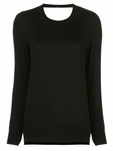 Adam Lippes lace detail knit jumper - Black