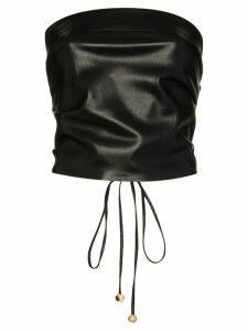 Nanushka Dahlia vegan leather bandeau top - Black
