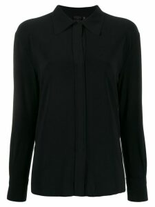 Norma Kamali long sleeve loose fit blouse - Black