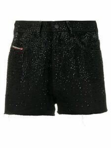 Diesel embellished high-waisted shorts - Black