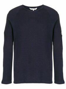 Calvin Klein Jeans waffle knit jumper - Blue