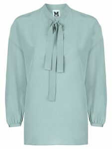 M Missoni pussy-bow silk blouse - Green