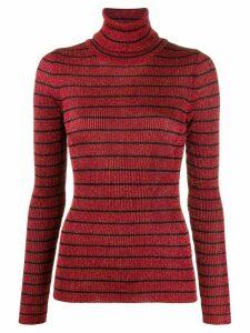 8pm striped turtle-neck jumper - Red