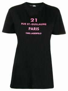 Karl Lagerfeld Rue St-Guillaume logo print T-shirt - Black