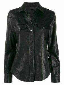 Pinko faux-leather shirt - Black
