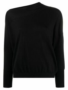 Brunello Cucinelli off-the-shoulder jumper - Black