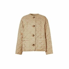 Burberry Logo Jacquard Diamond Quilted Jacket