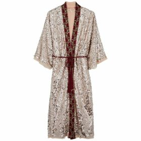Free People Light Is Coming Embroidered Sequin Jacket