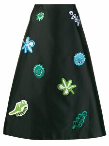 Marni patch-embellished A-line skirt - Black