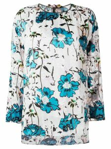 Antonio Marras floral print high-low hem blouse - White
