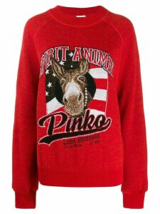 Pinko x Lucia Heffernan Spirit Animal jumper - Red