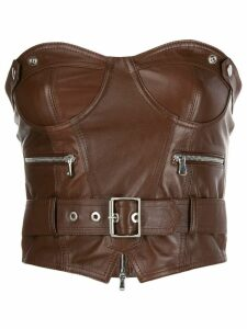 Manokhi buckle detail top - Brown