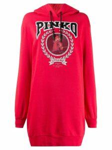 Pinko logo print hoodie - Red