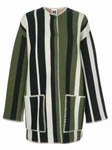 M Missoni oversized striped cardigan coat - Blue