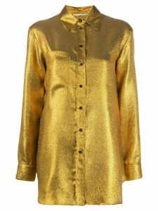Marco De Vincenzo metallic relaxed-fit shirt - GOLD