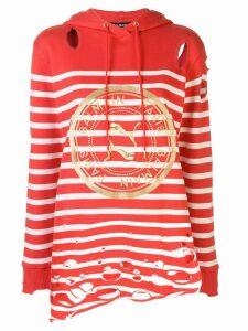 Puma x Balmain striped hoodie - Red