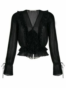 Marco De Vincenzo glitter Georgette blouse - Black