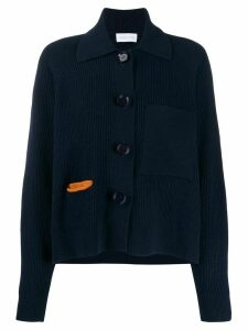 Christian Wijnants long-sleeve knitted cardigan - Blue