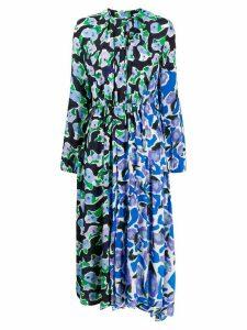 Christian Wijnants long-sleeve flared midi dress - Blue
