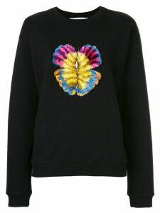 Mary Katrantzou butterfly embroidered sweatshirt - Black