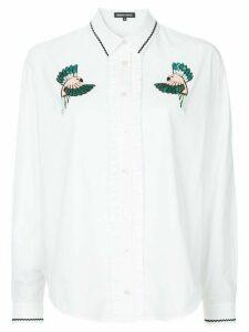 Markus Lupfer beaded bird patch shirt - White
