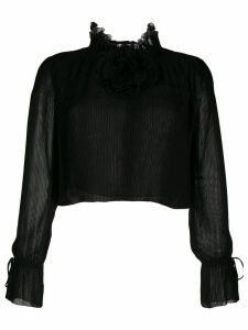 Marco De Vincenzo Georgette blouse - Black