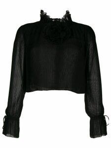 Marco De Vincenzo Georgette blouse - Black