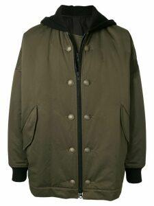 Yohji Yamamoto oversized hooded jacket - Green