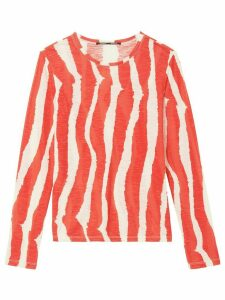Proenza Schouler striped longsleeved T-shirt - Orange