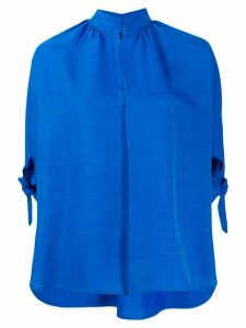 Christian Wijnants high neck slub shirt - Blue