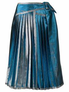 Marco De Vincenzo metallic pleated skirt - SILVER