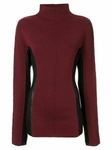 Yang Li contrasting side panels jumper - Red