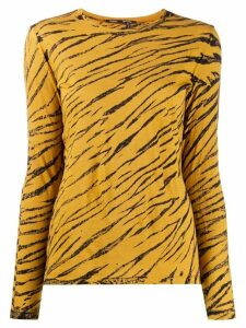 Proenza Schouler LONG SLEEVE TIE DYE TEE - Brown