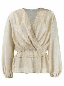 IRO Maryle semi-sheer wrap blouse - NEUTRALS