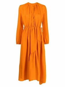 Christian Wijnants long-sleeve flared dress - ORANGE