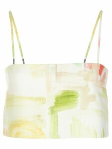 Rosie Assoulin Easy bandeau top - Yellow