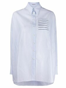 Brunello Cucinelli glitter trim shirt - Blue