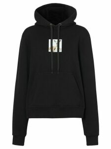 Burberry deer-print oversized hoodie - Black