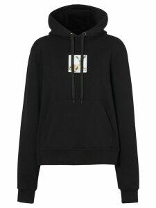 Burberry deer-print oversized hoodie - Black