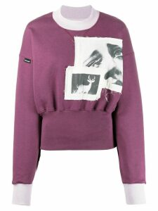 Palm Angels photograph patch sweatshirt - PURPLE
