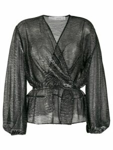 IRO Maryle semi-sheer wrap blouse - Black
