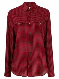 Saint Laurent gingham check shirt - Red