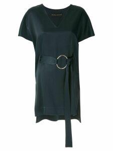 Gloria Coelho belted blouse - Blue
