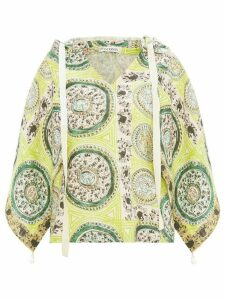 JW Anderson paisley print hooded blouse - Green