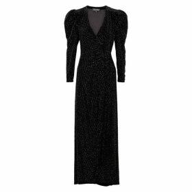 Retrofête Agnes Crystal-embellished Velvet Gown