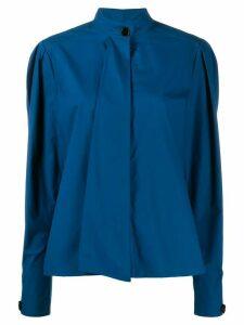 Lemaire mandarin collar boxy shirt - Blue